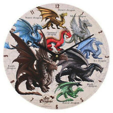 ANNE STOKES AGE OF DRAGONS CLOCK 34CM
