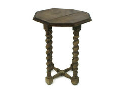 Barley Twist Wood Side Occasional Wine Coffee Table Pedestal Plant Stand  22.83""