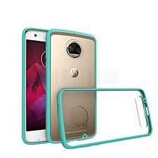For Motorola Moto Z2 Force Edition Clear Bumper Hard Shockproof Phone Cover Case