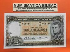 AUSTRALIA 10 SHILLING ND 1961 UNC SERIE AH-03 COOMBS WILSON Pick 29/33A BANKNOTE
