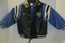 9459ad37778 Nike Youth Boys 4 Orlando Magic Faux Leather Bomber Moto Jacket NICE!