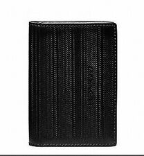NWT Coach Blk Bleecker Legacy Embossed Bifold Business Credit Card Case Wallet