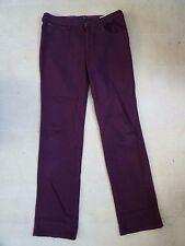 Plum coloured jeans, leg: 34, waist: 35