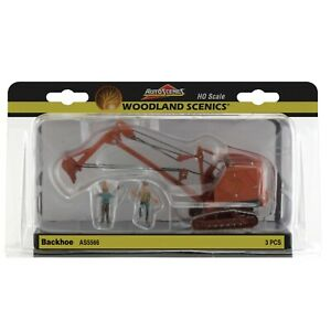 Woodland Scenics ~ HO Scale Construction ~ Backhoe With Person ~ AS5566
