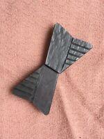 1930s Vintage Buckle Ribbon Belt Art Deco 1940s Catalin Mottled Grey Old