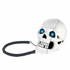 LED Skull Skeleton Antique Landline Telephone Wired Phones Home Office Decor Fun