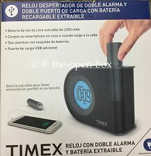 Timex T402BC Dual Charging INDIGLO Dual Alarm Clock with USB