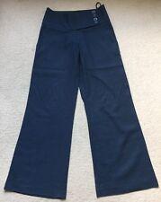 New Look Navy Blue Linen Trousers Uk 6