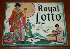 1936 Parker Brothers ROYAL LOTTO -Very Good Condition Beautiful Artwork on box
