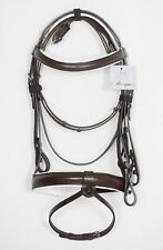 """Brown Bonefire Comfort Bridle Padded 1.5""""noseband Premium Quality Show Leather"""