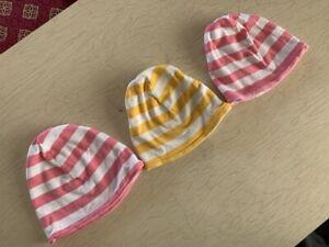 Hanna Andersson Organic Cotton Striped Beanie, EUC, Baby Hat, Cap