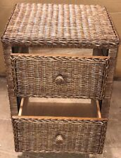 2 Drawer Night Stand Wicker