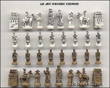 SERIE COMPLETE DE FEVES  LE JEU D'ECHEC CHINOIS    32 PIECES