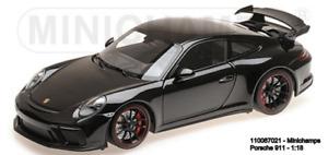 MINICHAMPS 110067021-   PORSCHE 911 GT3 – 2017 – BLACK METALLIC L.E. 666 pcs