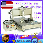 USB CNC 4 Axis 6090 Router Engraver DIY Woodworking Enragving Milling Machine 3D