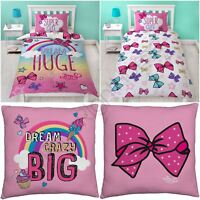 JOJO SIWA BOWS BEDDING SINGLE DUVET COVER SET, REVERSIBLE CUSHION, BATH TOWEL
