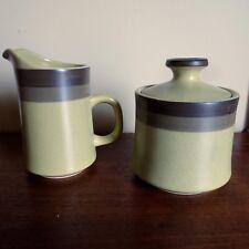 Kasuga Arrow Stone Stoneware Apache  Green Vintage Mid Century Suger Creamer NEW
