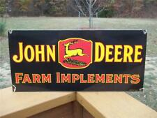 Old Porcelain Dealer Sign John Deere Farm Implements Veribrite Signs Chicago Il