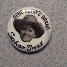 Vintage GENE AUTRY SUNBEAM BREAD PIN PINBACK BUTTON Cowboy Hat d38f8334628c