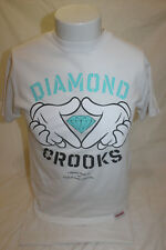 Diamonds Supply Crooks Collaboration Men's White T Shirt Size Small Made in USA