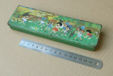 A vintage tin pencil case, made in Israel.