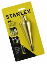 Stanley BRASS PLUMB BOB 450g Polished-Lacquer, Hardened Steel Tip *USA Brand