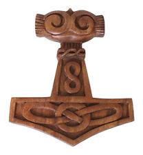 Battle Merchant Wandschmuck Thorshammer Knoten 25cm Holz Deko Mittelalter LARP