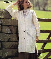 "Mesdames ~ Long-Veste ~ traditionnel ~ Aran ~ Knitting Pattern Taille 32-46"" (BP48)"