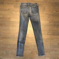 Rag & Bone W1502K520 Skinny Destroyed Distressed Stretch Denim Jeans Woman's 25