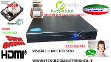 DVR 4 CANALI CON HARD DISK 500GB HDMI VGA BNC CON I CLOUD H264 VIDEOSORVEGLIANZA