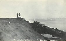 Vintage Printed Postcard; Tip of North America, Pt. Barrow AK, Nuvuk, Unposted