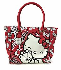 Hello Kitty 40th Anniversary Red Love Heart Tote Handbag - Sanrio