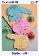 Stylecraft 8009 Knitting Pattern Cardigans & Sweater in Wondersoft DK