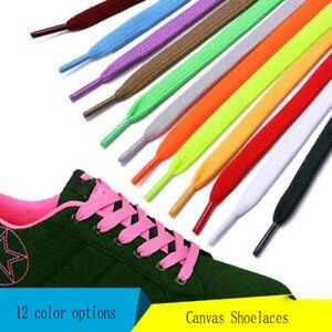 5Pair 100cm Flat Sports Shoes Laces Canvas Shoelaces Bootlace Sneaker Shoe Laces