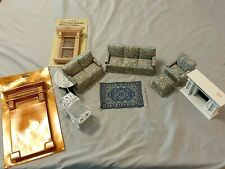 Lot of 10 NOS Dollhouse Miniature Furniture Living Room Victorian Door Fireplace