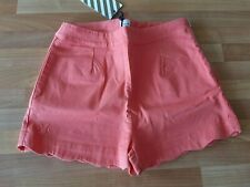No Added Sugar Crinkle Cut shorts rhubarb coral pink 11-12 BNWT RRP £49