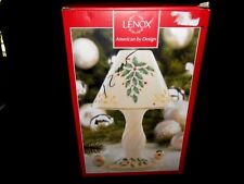 Lenox American by Design Holiday Candle Lamp w/Pierced Shade Holly Design $60.00