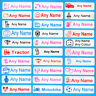 Printed Iron On Name Labels Tags For School Clothes, Uniform Or Care Home, Homes
