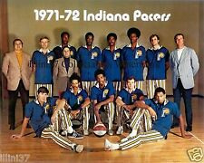 1971-72 INDIANA PACERS ABA CHAMPIONS 8X10 TEAM PHOTO DANIELS MCGINNIS RICK MOUNT