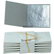 100 silver leaf leaves sheets -  99.9% pure edible  999/1000