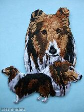 IRON-ON EMBROIDERED PATCH POODLE #2 DOG MONTAGE