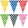 12Ft Polka Dots Flag Banner Bunting Party Garland Decorations Birthday Boy Girl