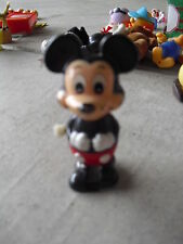 """Vintage 1970s Tomy Mickey Mouse Wind-up Figurine 3 1/4"""" Tall"""