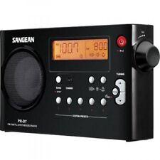 Sangean FM-Stereo / AM / PLL Tuning Portable Radio Receiver PRD7BK