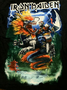 IRON MAIDEN t-shirt CHINA Event Book of Souls Size L 2016 Vintage Official Rare!