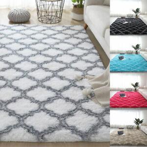 Fluffy Rugs Anti-Slip Soft Carpet Mat Living Room Floor Bedroom Livingroom Decor