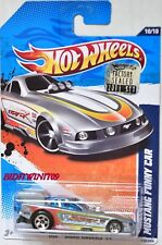HOT WHEELS 2011 DRAG RACER MUSTANG FUNNY CAR SILVER FACTORY SEALED