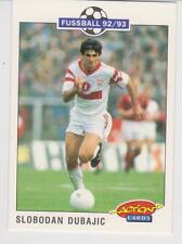 Panini Fussball 92-93 Action Cards #204 Slobodan Dubajic VFB Stuttgart