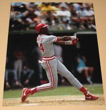Eric Davis Cincinnati Reds unsigned color photo 8x10