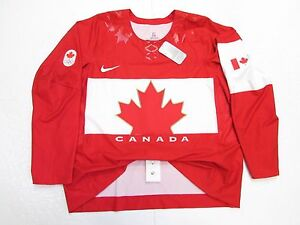 TEAM CANADA AUTHENTIC RED SOCHI 2014 OLYMPICS NIKE SWIFT HOCKEY JERSEY SIZE 50